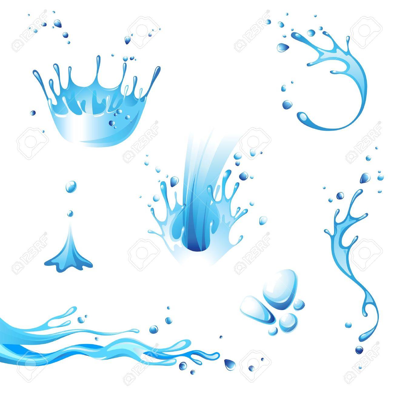 Water splash icons set Stock Vector - 14788988