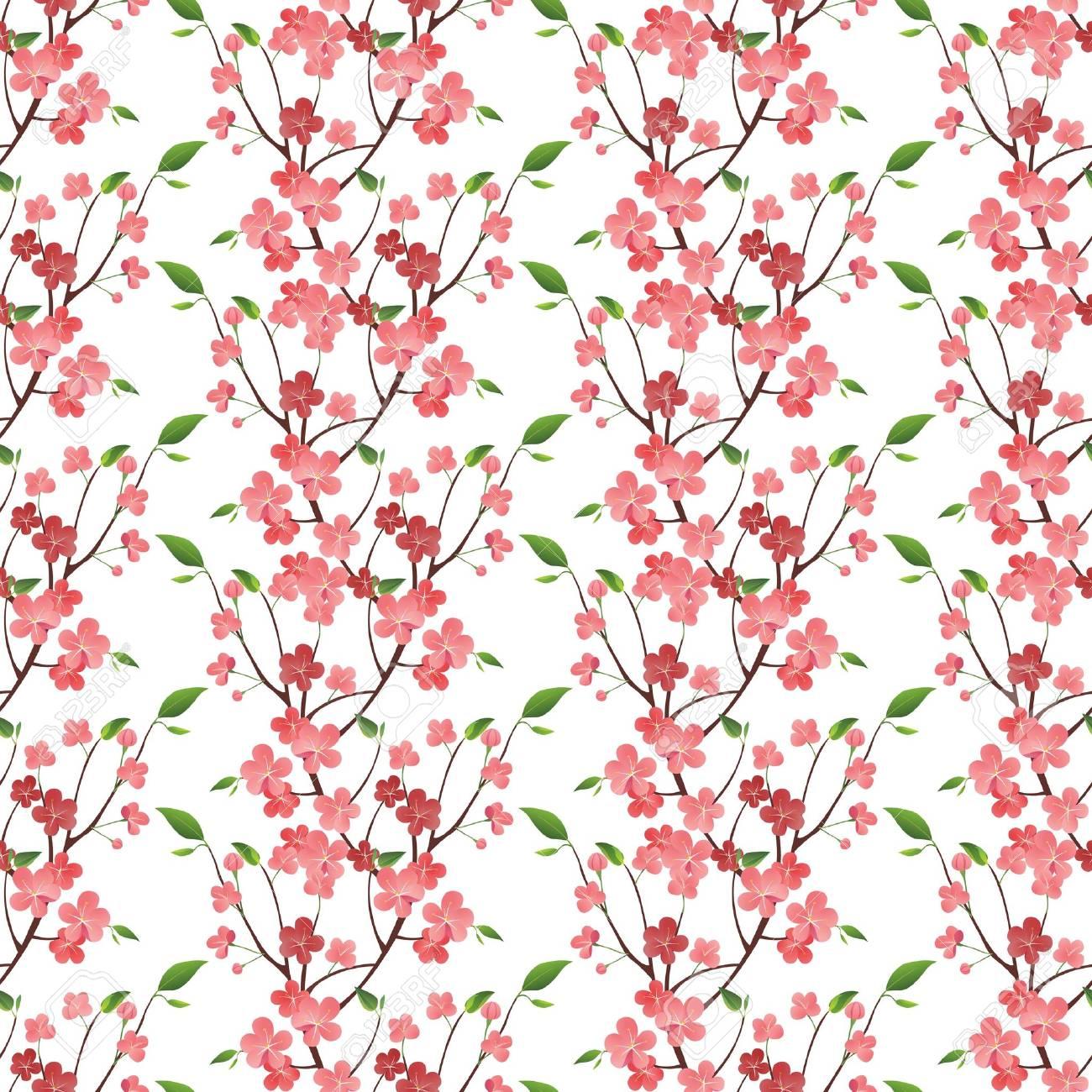 Spring blossom seamless ornament Stock Vector - 17699698