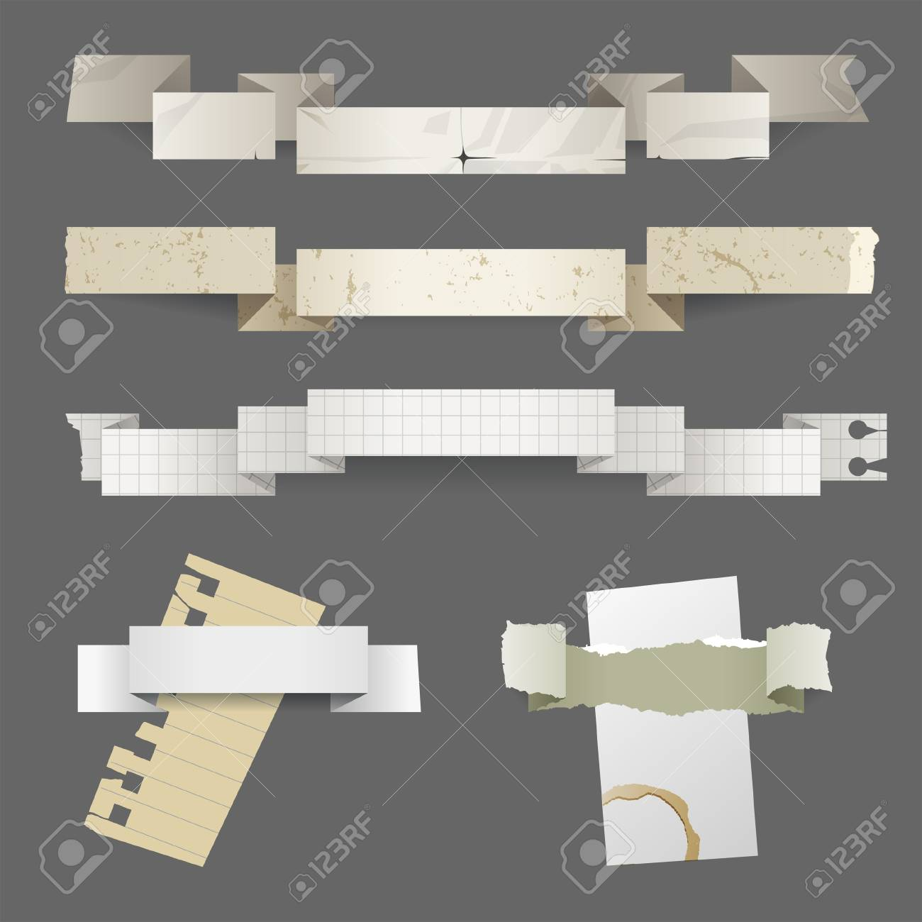Retro styled paper banners with place for your text Stock Vector - 18783883