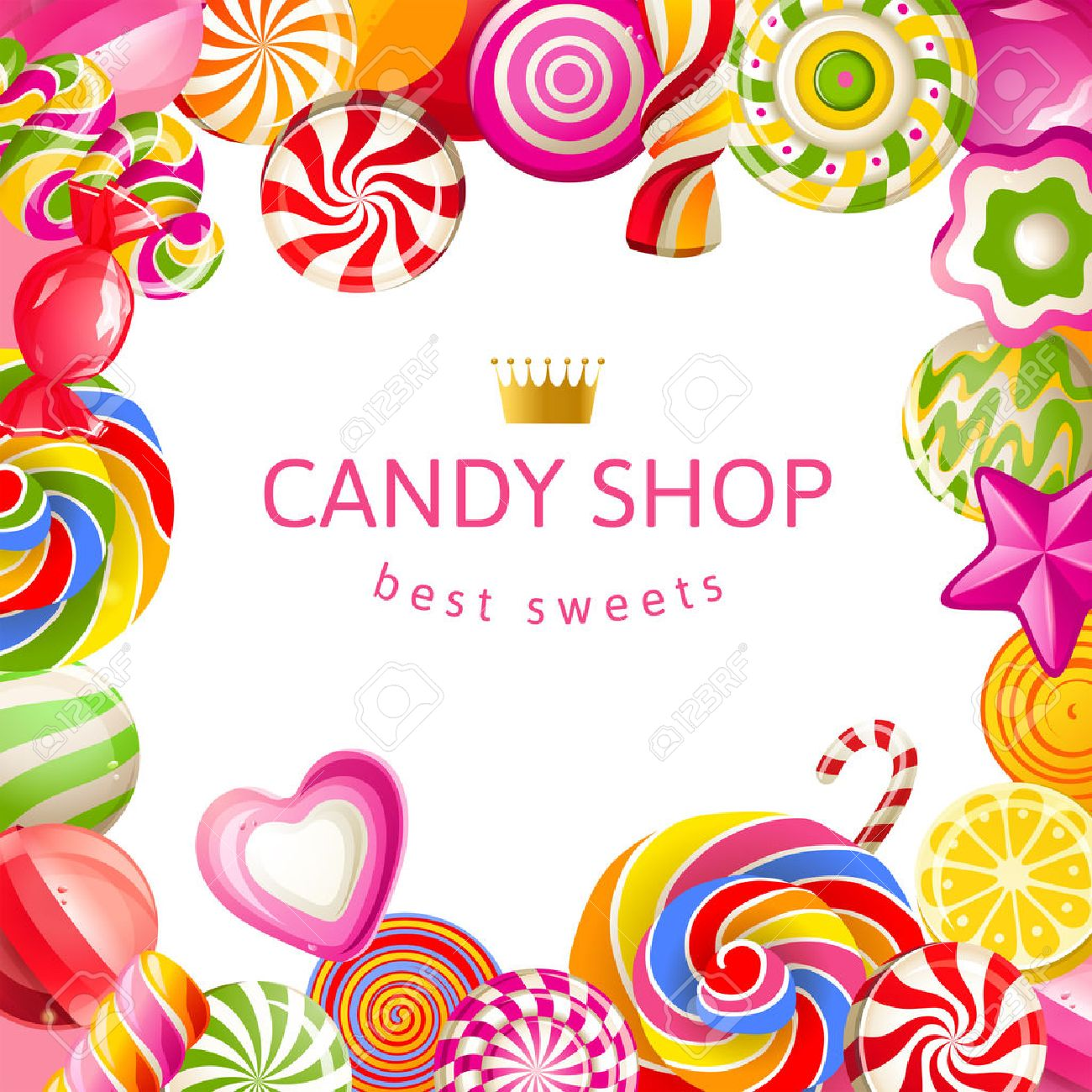Bright background with candies - 26768606