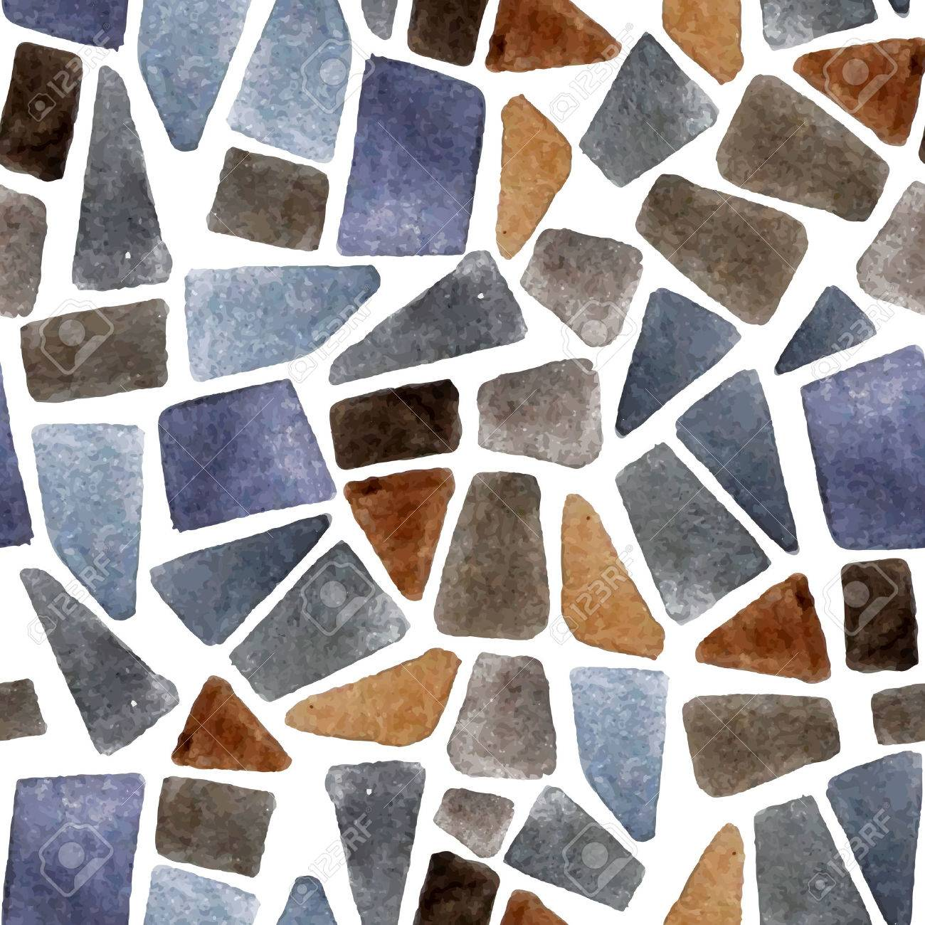Watercolor seamless stone texture for your designs - 42038755