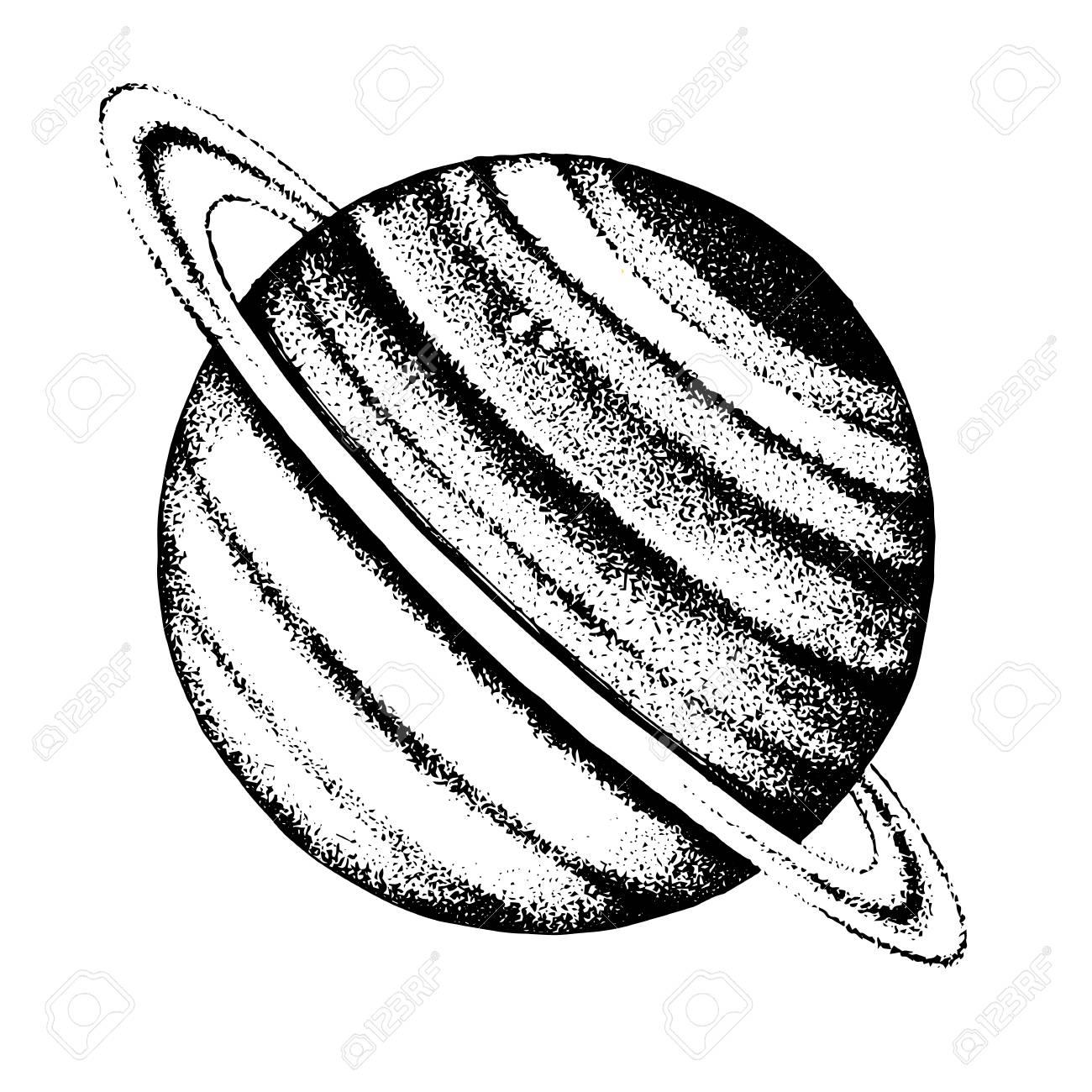 Hand drawn Saturn planet - 109807613