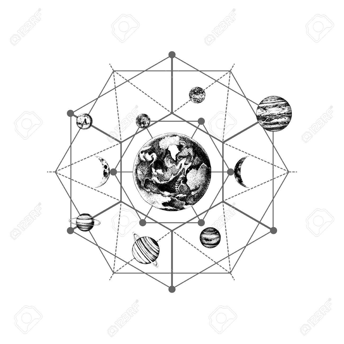 Solar system sacred geometry - 109807625