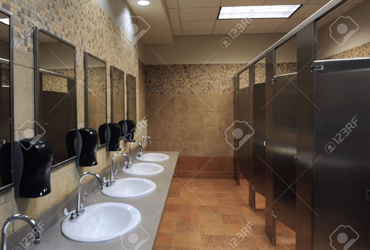 lavatory sinks in a public restroom Stock Photo - 7937354