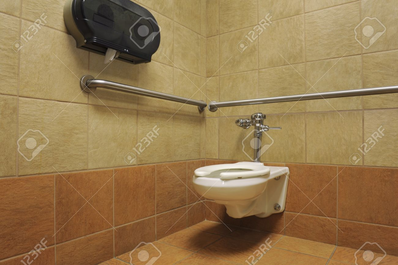 handicap bathroom stall. Stock Photo - Toilet In An Attractive Handicapped Accessible Stall Of A Public Restroom Handicap Bathroom N