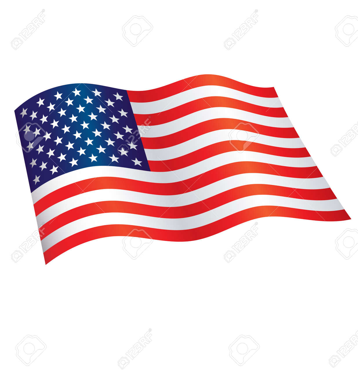 American Star Spangled Banner Flag of united states of america flying waving flowing usa vector - 167052079