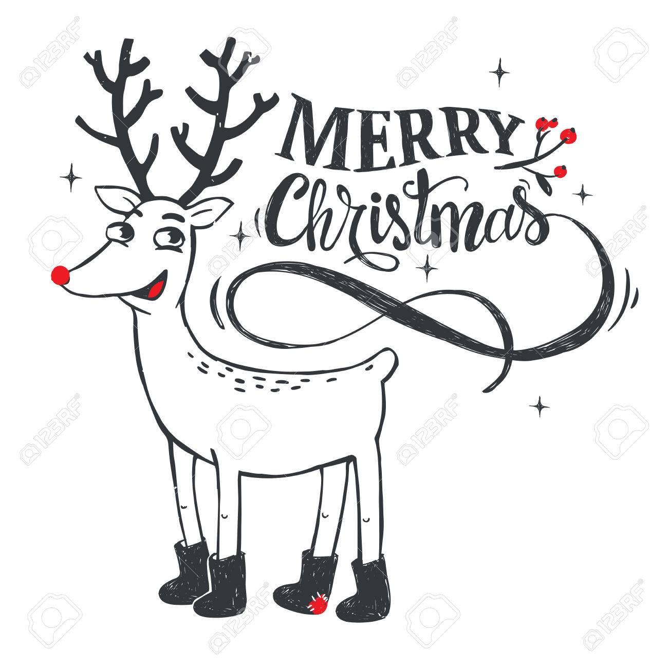 親愛なると流行に敏感な新年とクリスマスのイラストベクトルの図の
