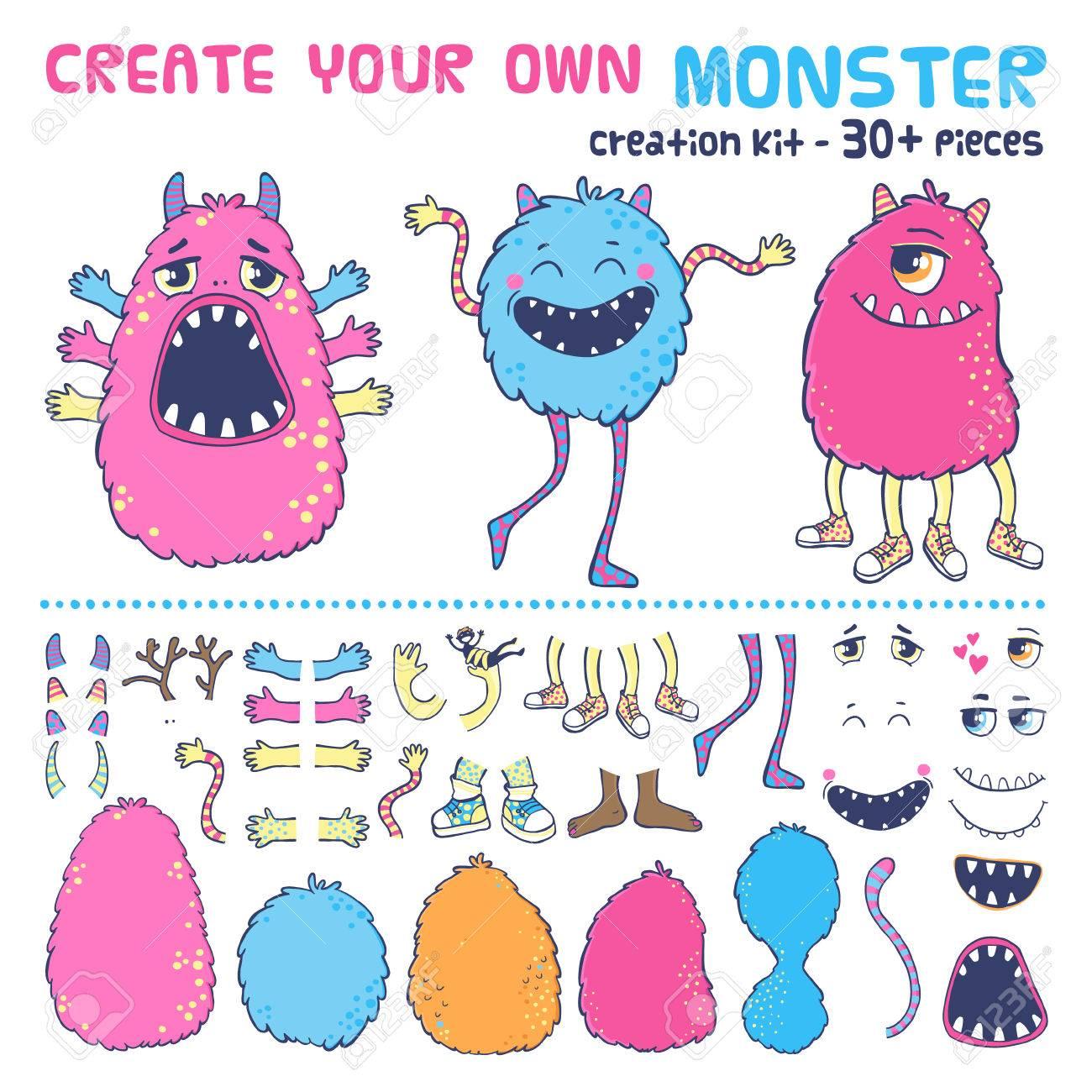 Monster creation kit. Create your own monster. - 49963669