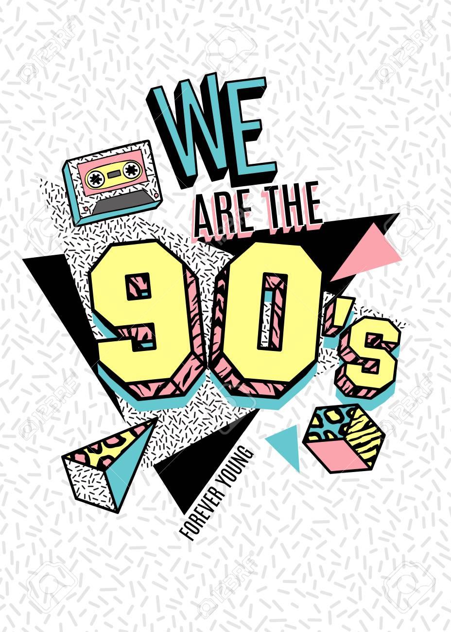 80 年代 90 年代のメンフィス スタイルのポスターのイラスト素材