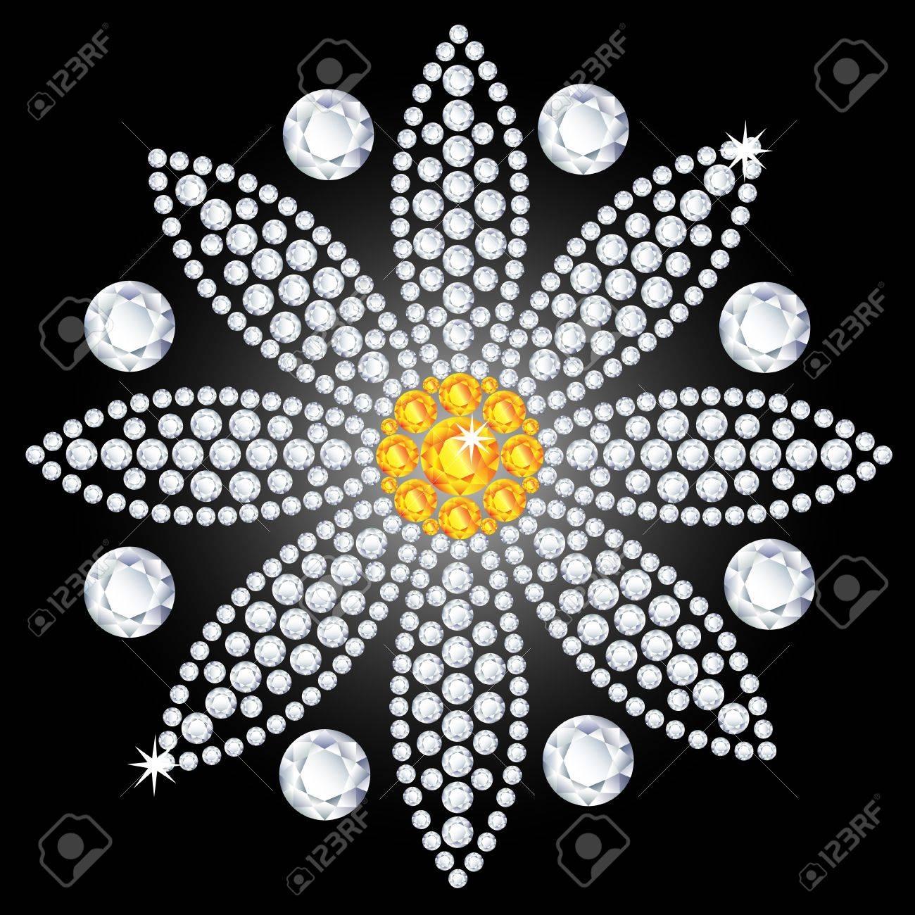 diamond flower Stock Vector - 18410987