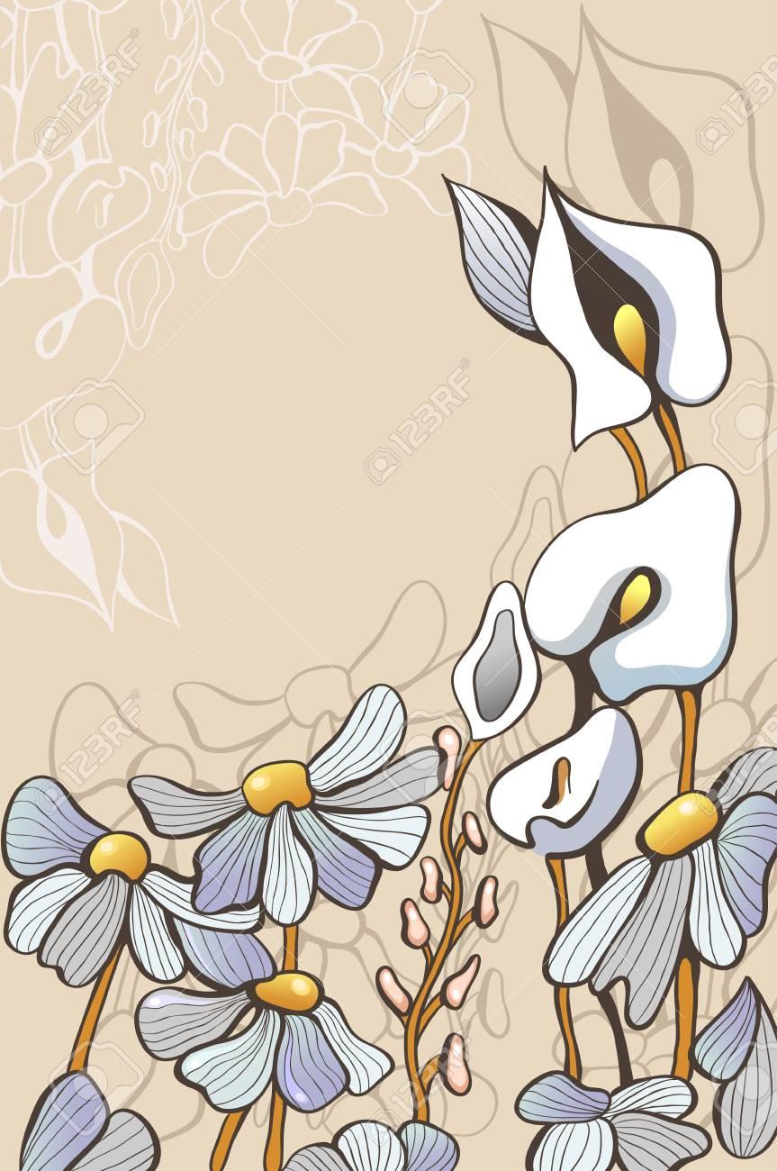 decorative flowers Stock Vector - 18410993