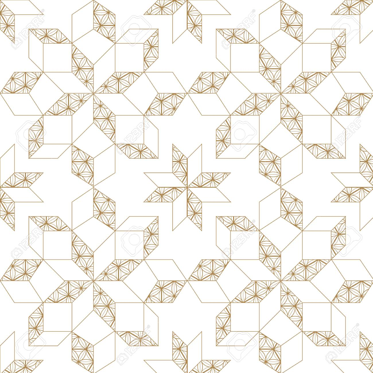 gold geometric simple minimalist with japanese vector pattern