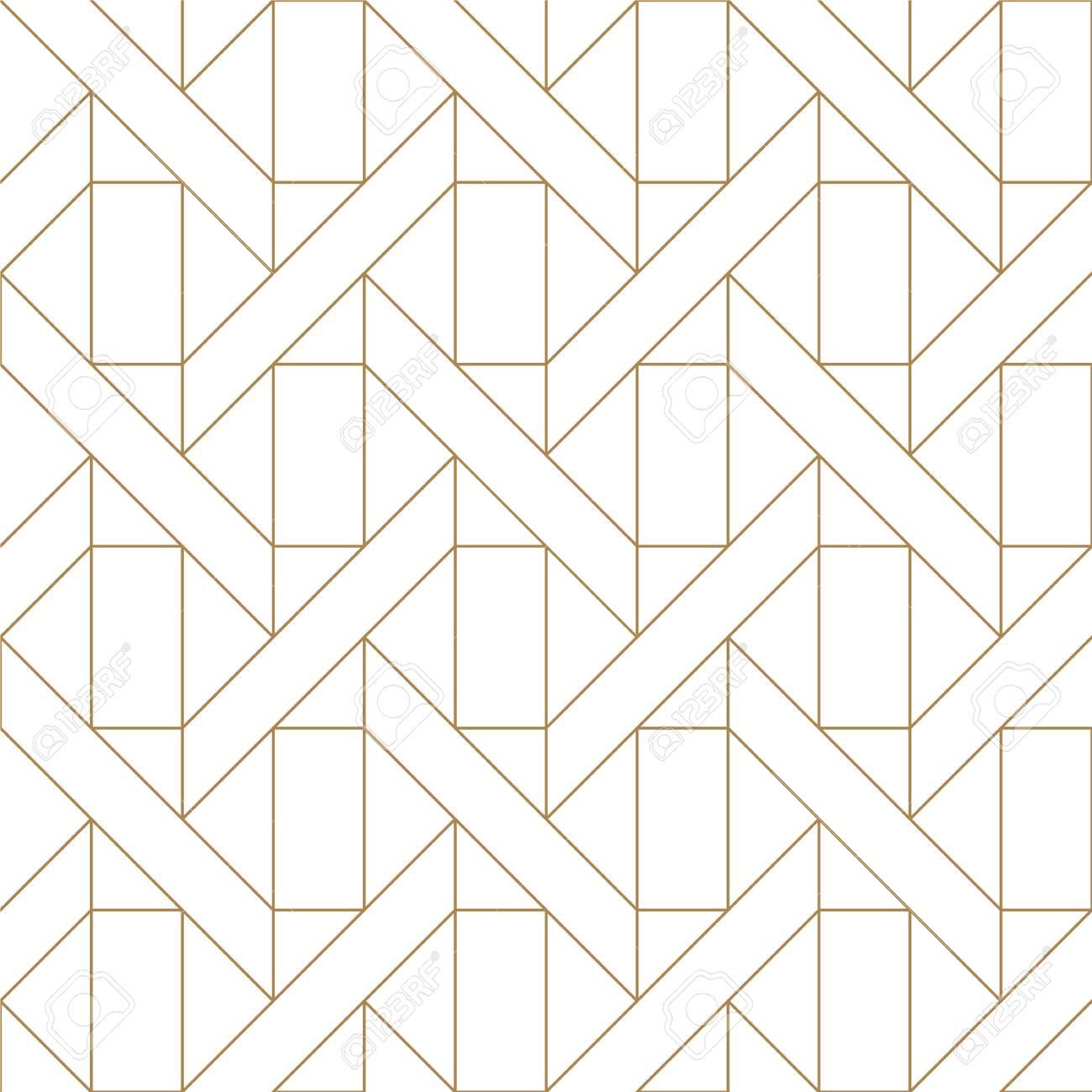 Patron Geometrico Simple Minimalista Dorado Fondo De Linea Para