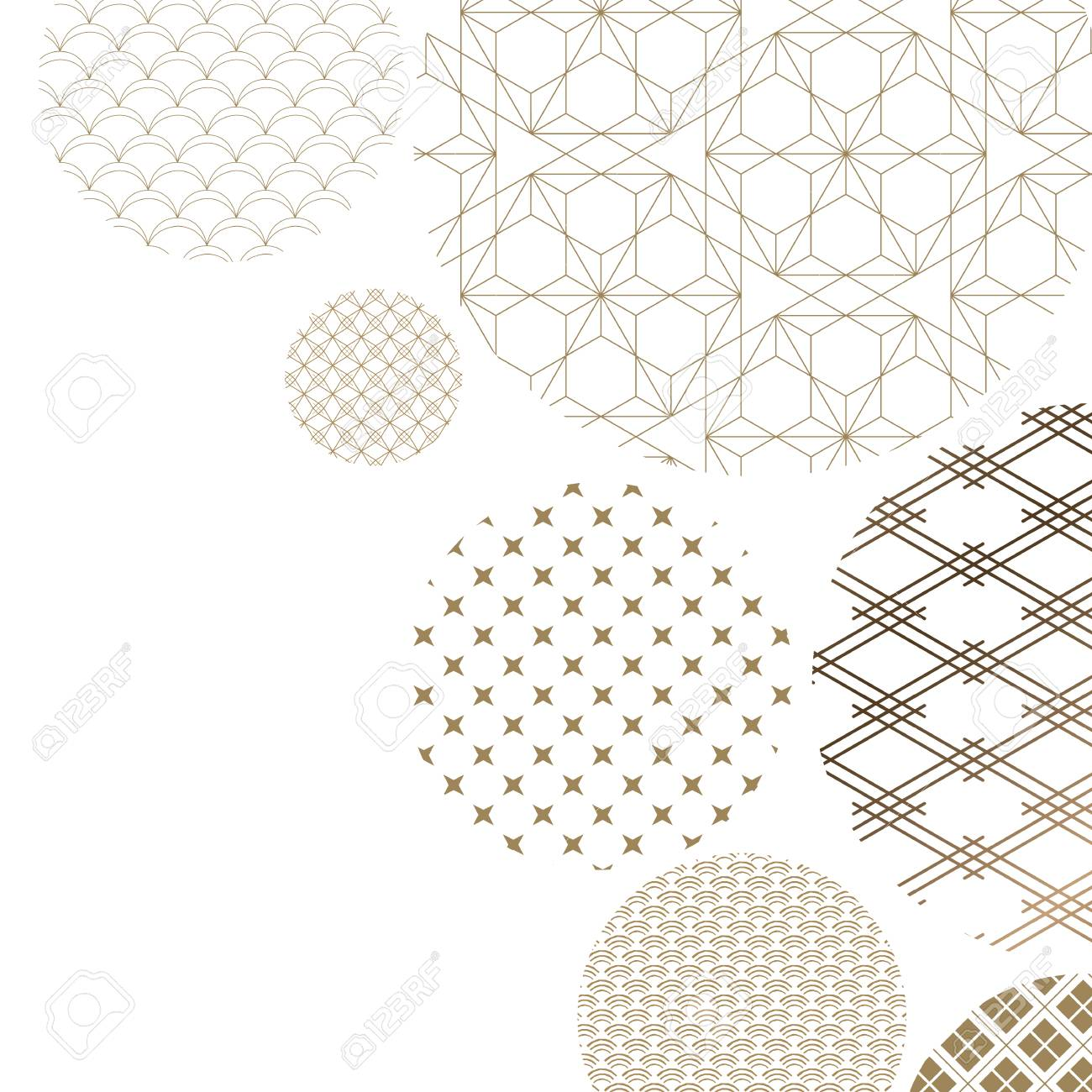 Japanese pattern background vector. Oriental gold geometric texture for cover design , poster, card, template. - 95361457