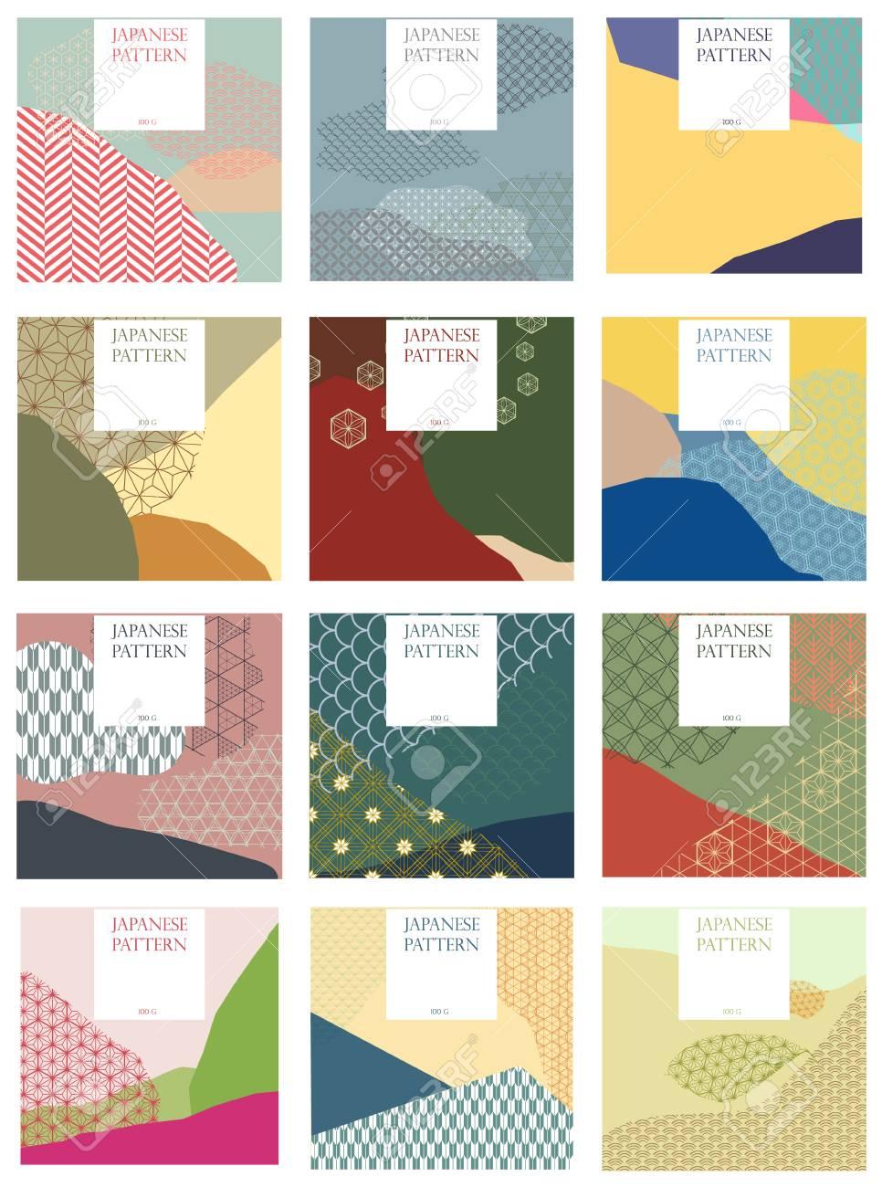 Japanese Pattern Vector. Season Background For Invitation Card ...