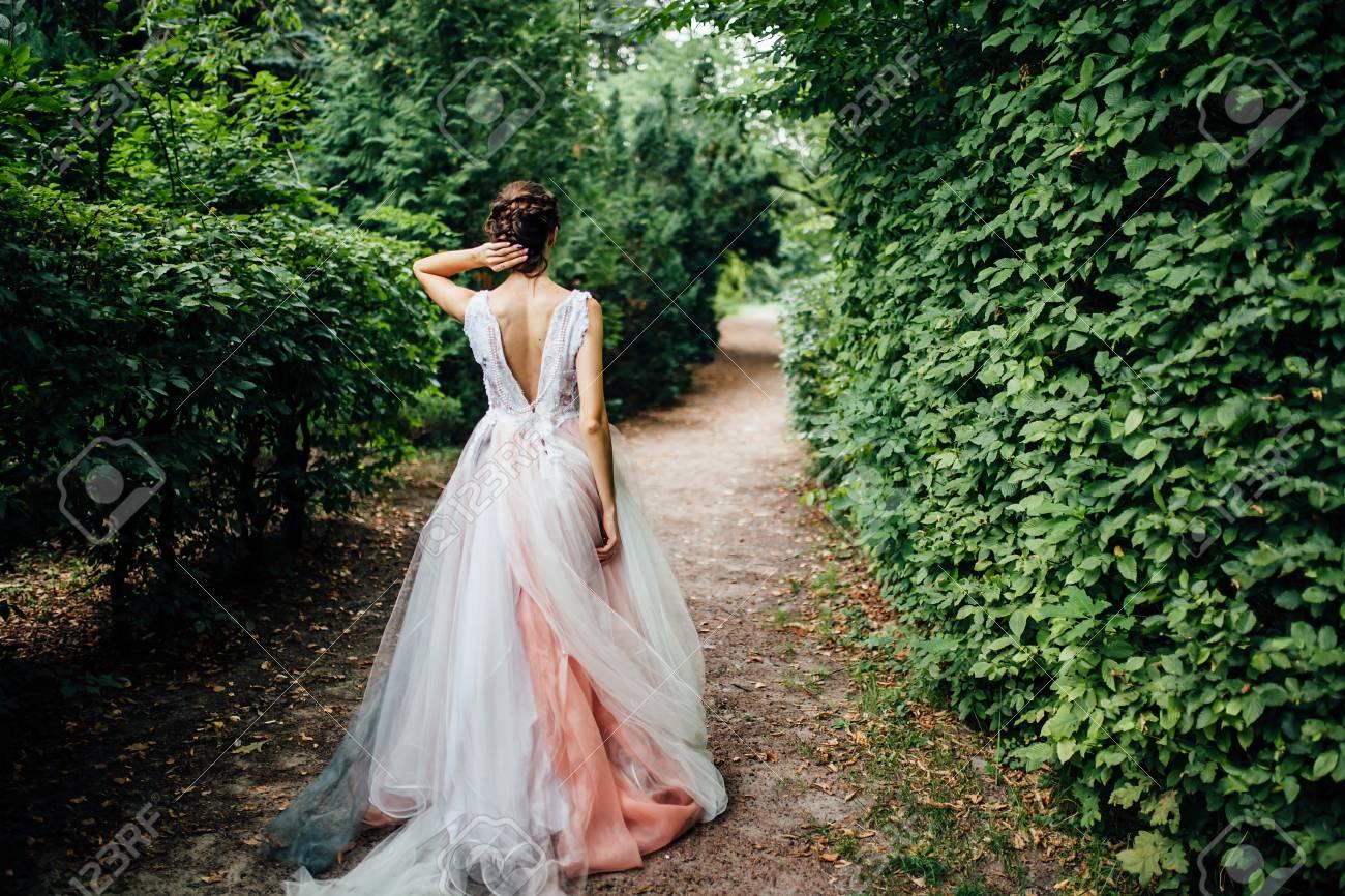 Hochzeit Braut Morgen Natur Das Hintergrundbild Fur Werbung Text