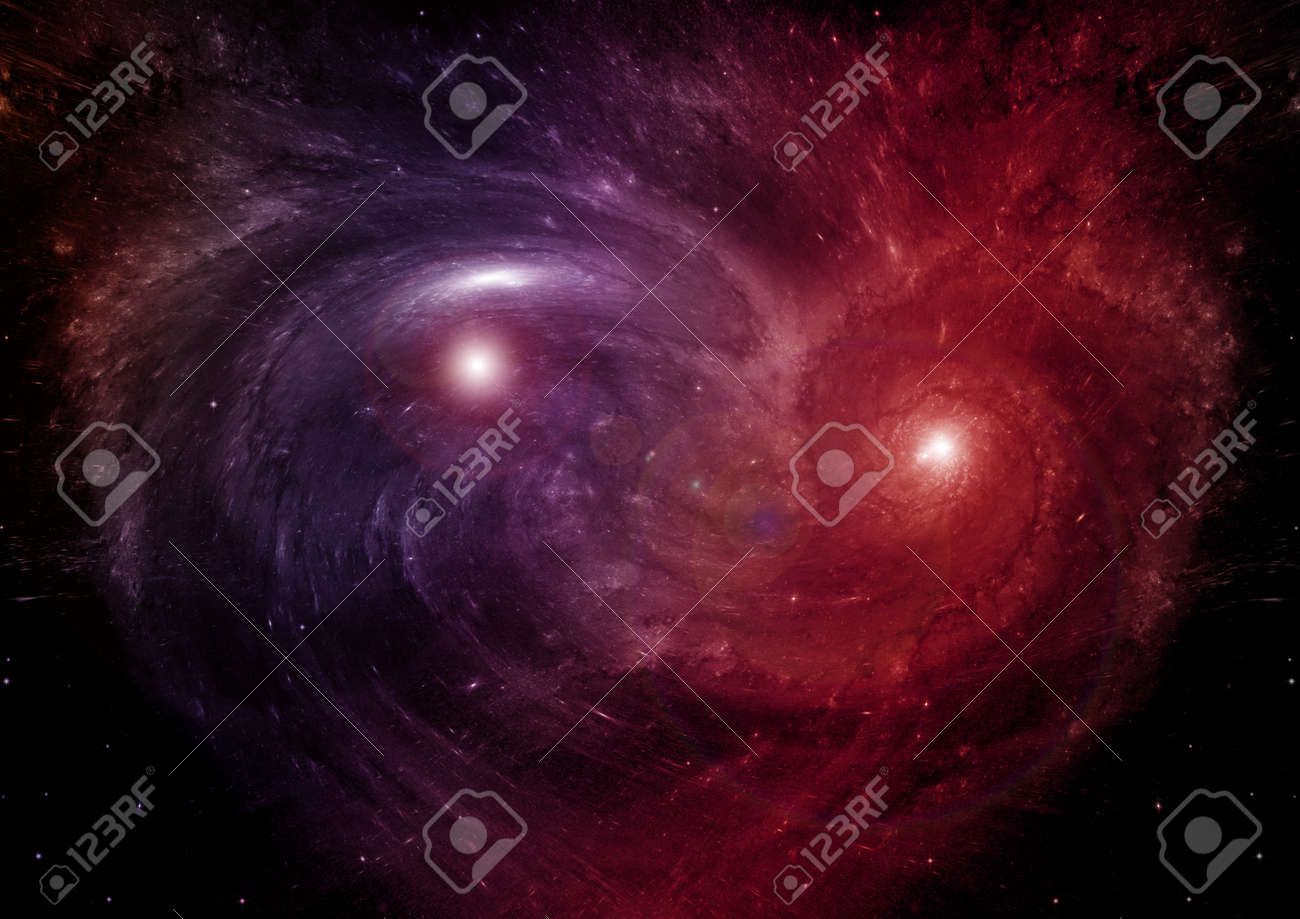 Stars of a planet and galaxy in a free space - 169055622