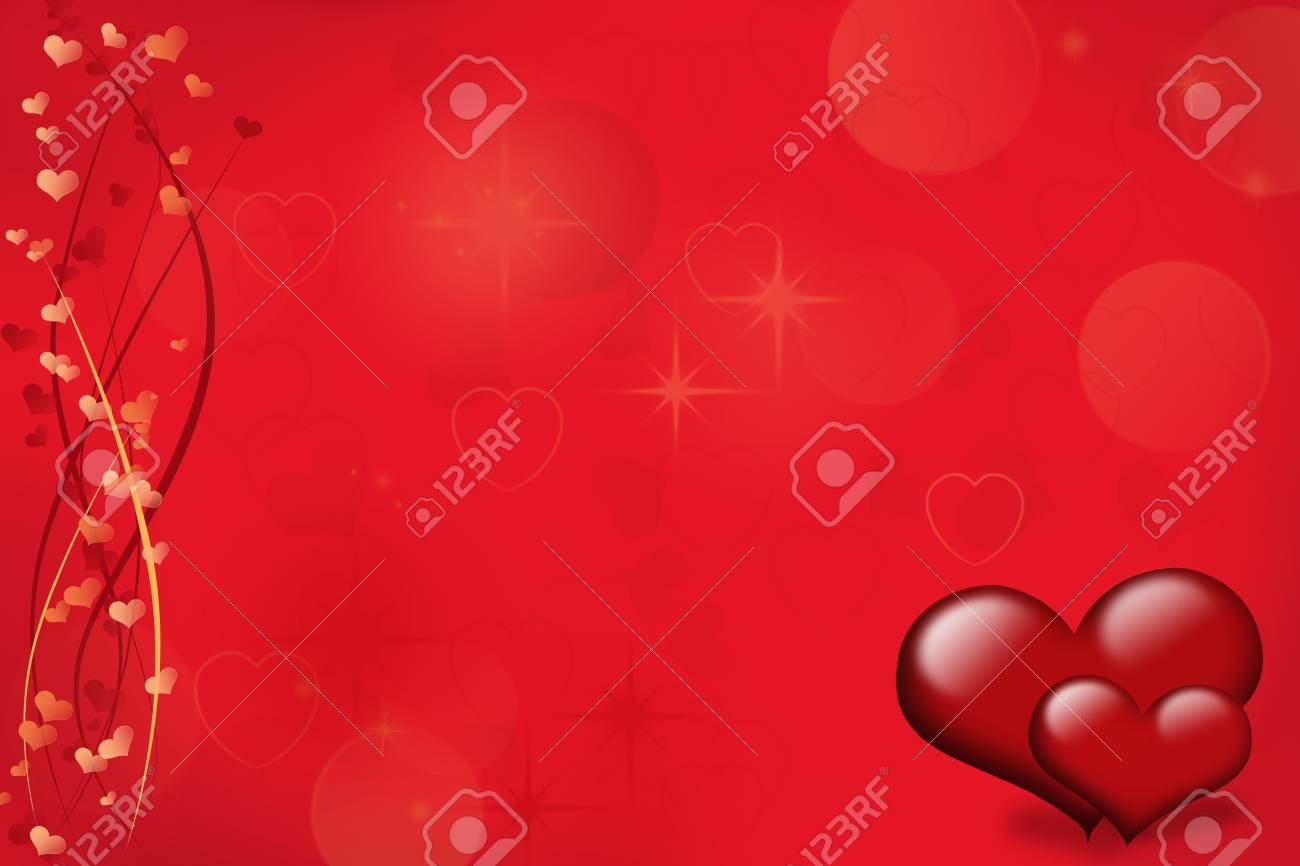 Background with hearts Stock Photo - 11835652