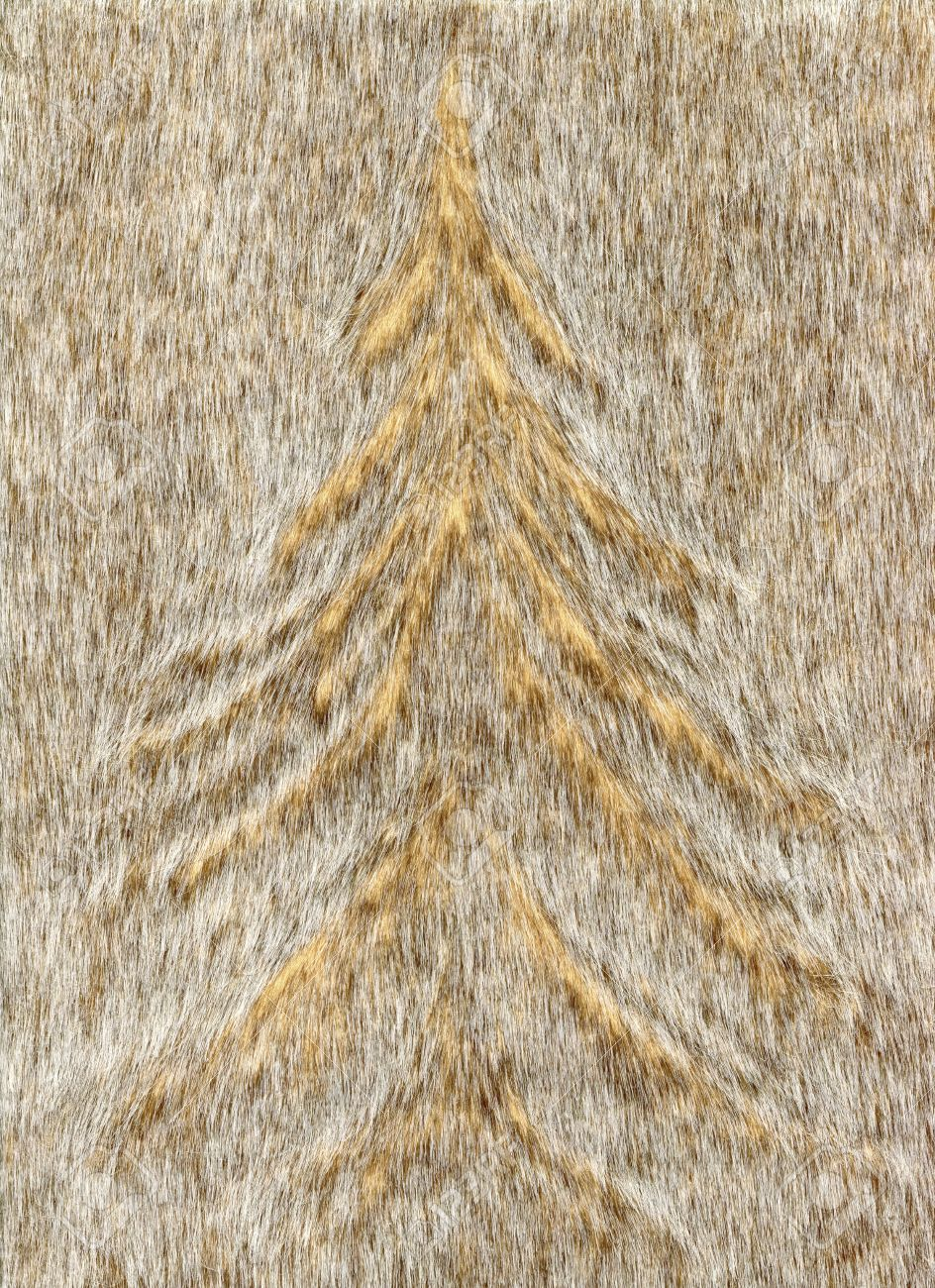 Winter background with Christmas tree for Christmas cards.Faux fur Christmas tree pattern - 69106735
