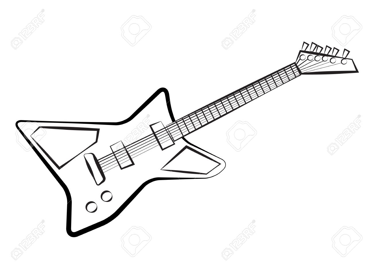 Rock Guitar Coloring Page Virtrencom