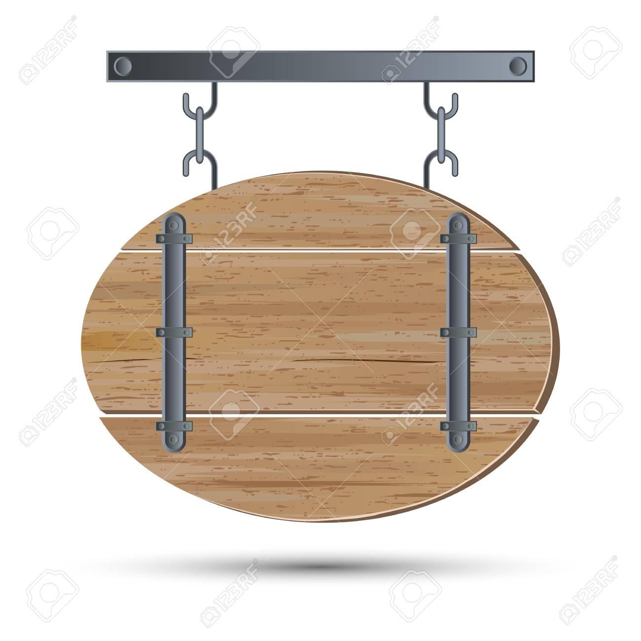 Retro wooden board Stock Vector - 17581192