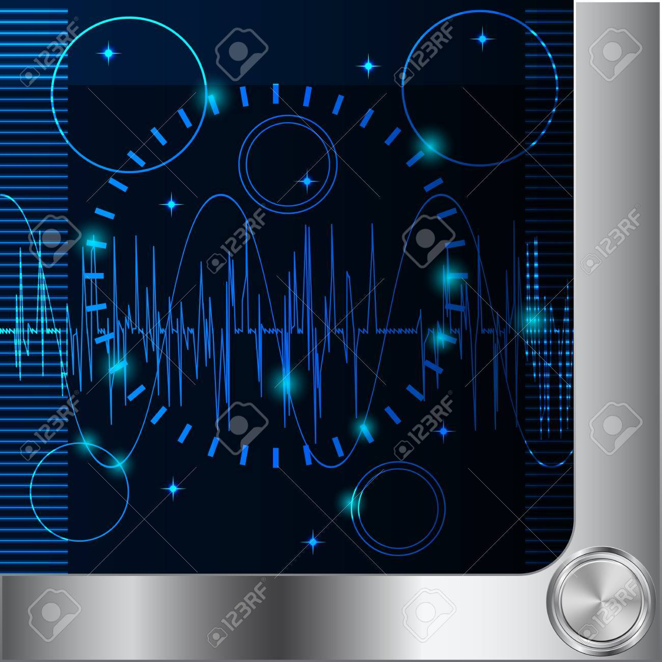 Abstract science background Stock Vector - 19389760