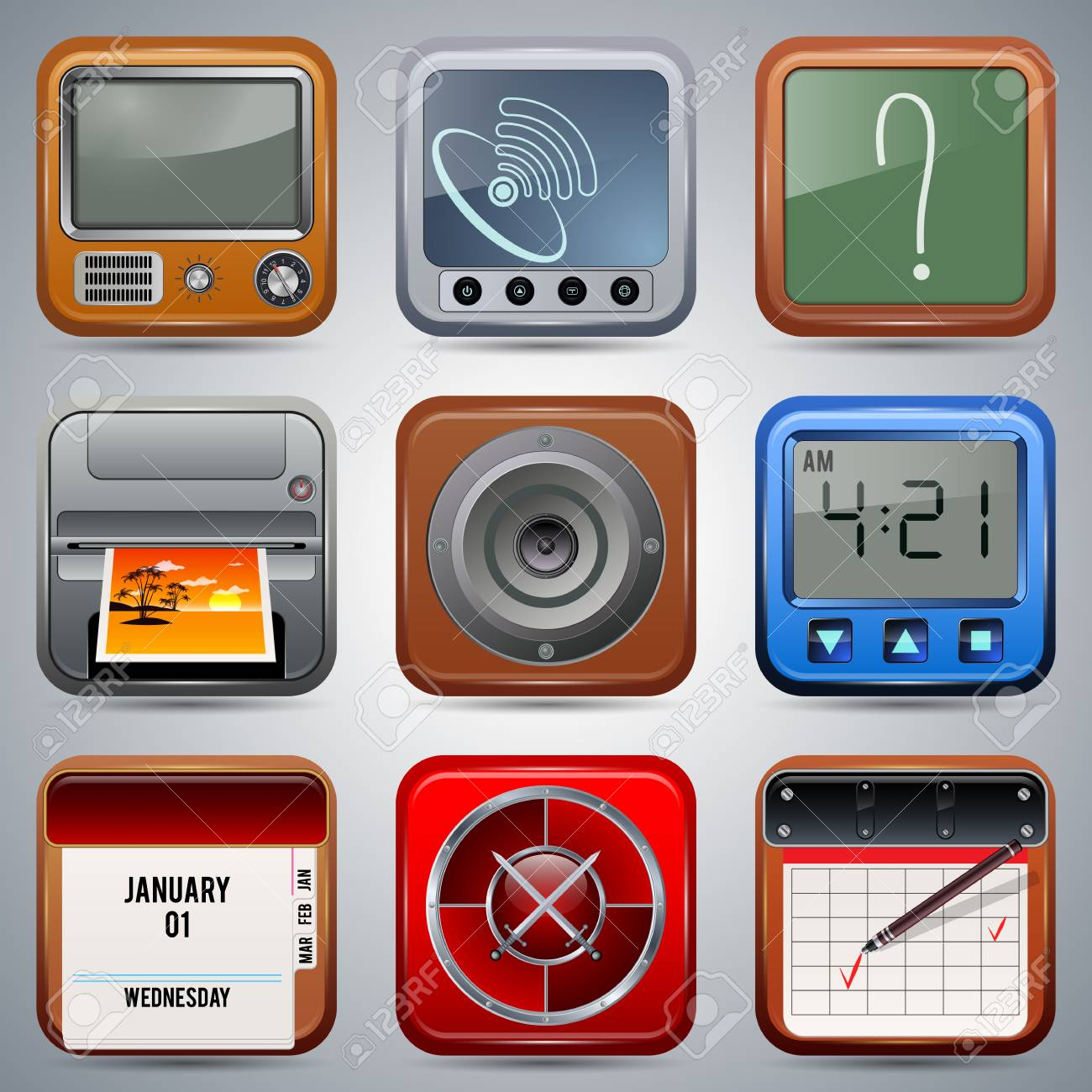 Application icons vector set Stock Vector - 20128871
