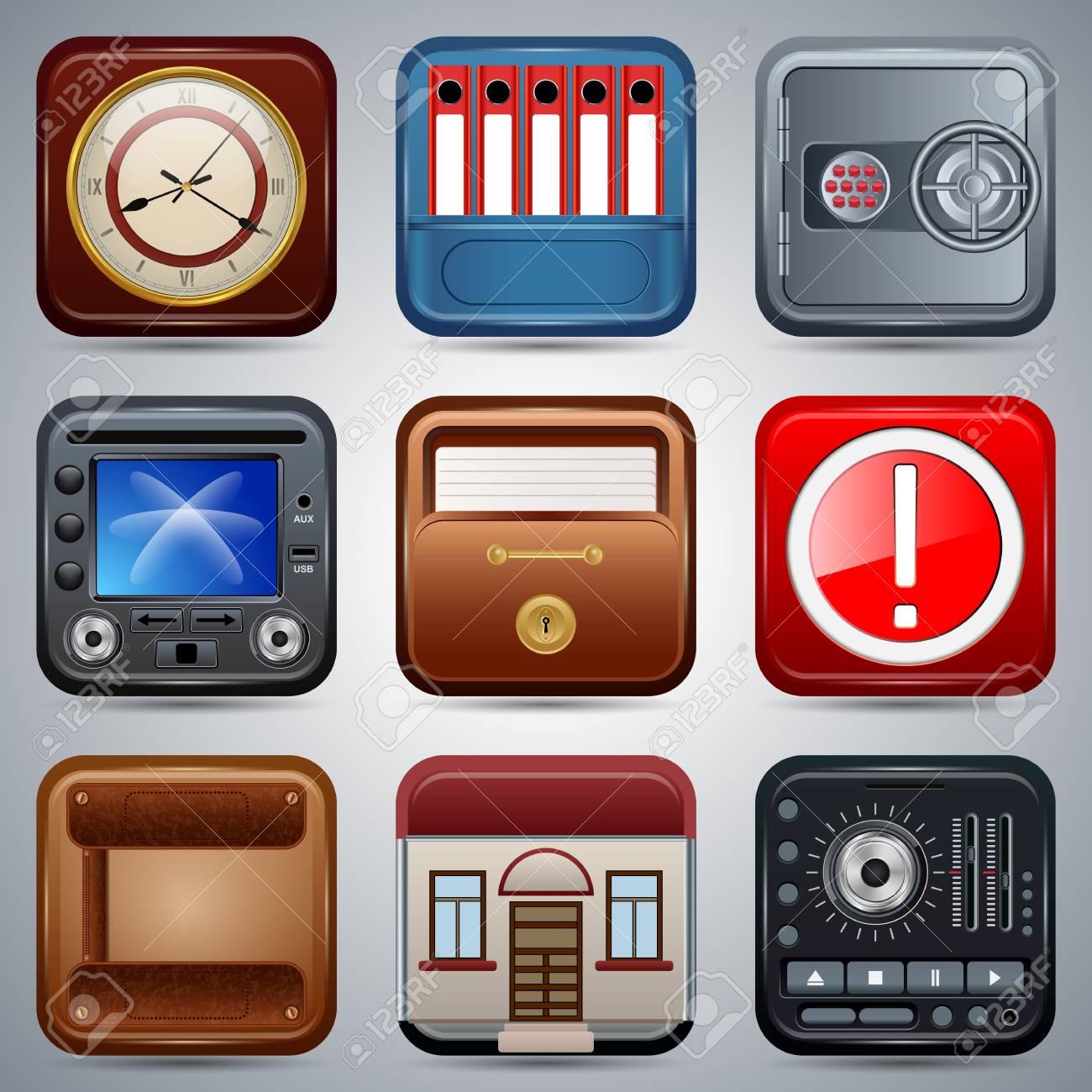 Application icons vector set Stock Vector - 20664247