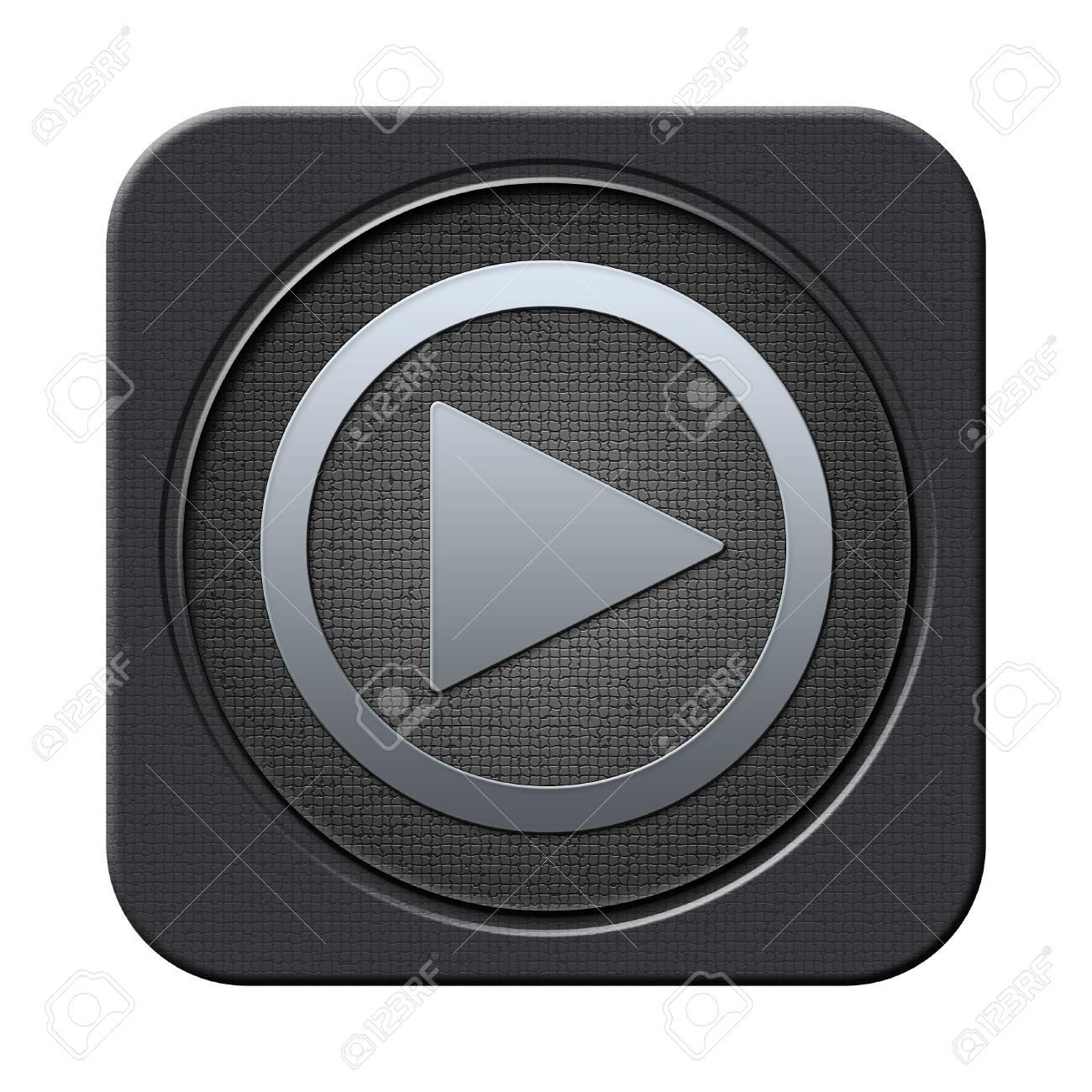 Play button Stock Photo - 23682222