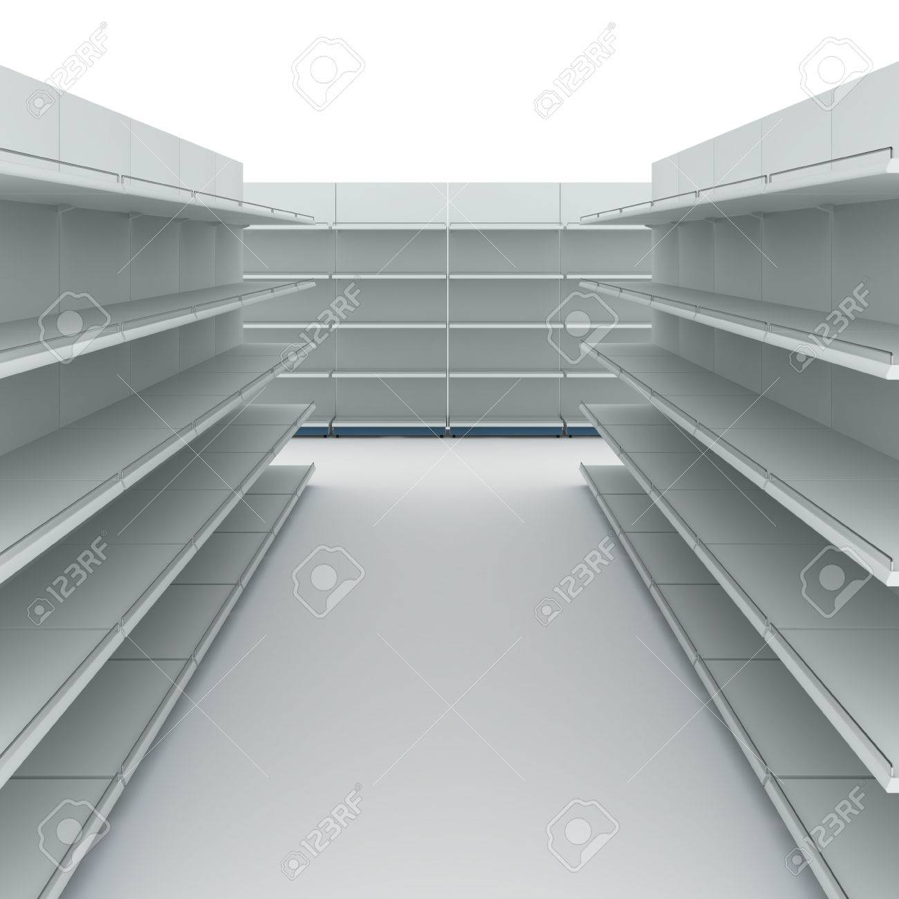 Empty supermarket shelves - 28869811