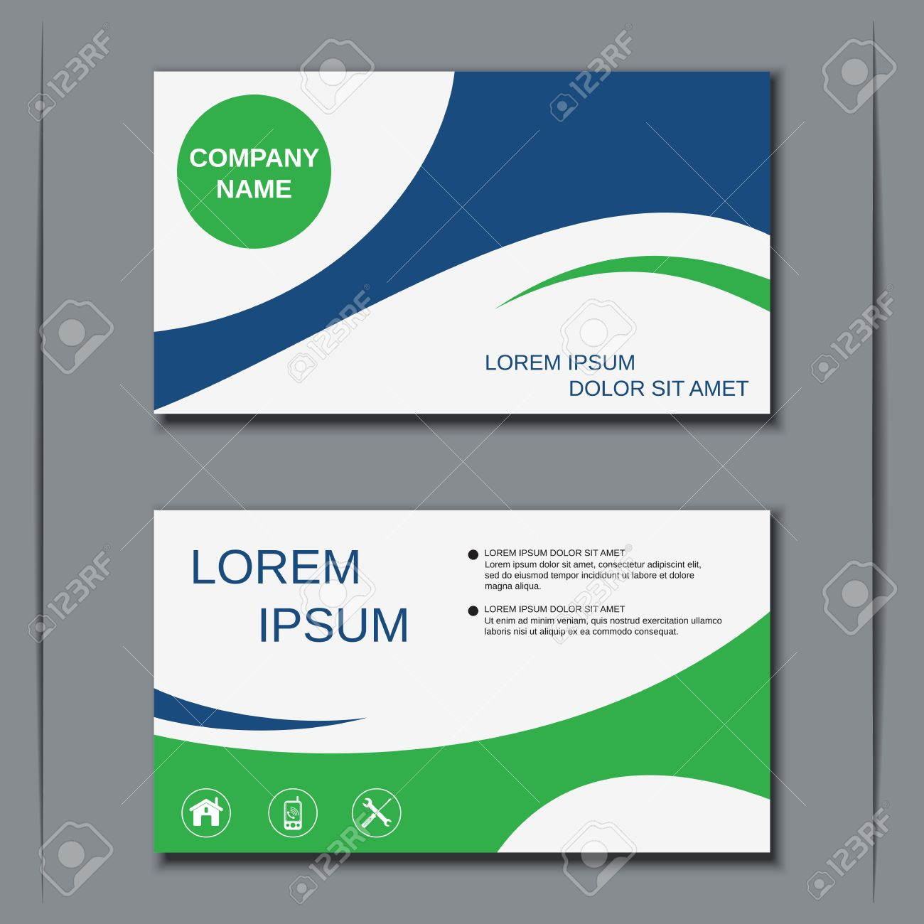 Modern Business Visiting Card Design Template Royalty Free Cliparts
