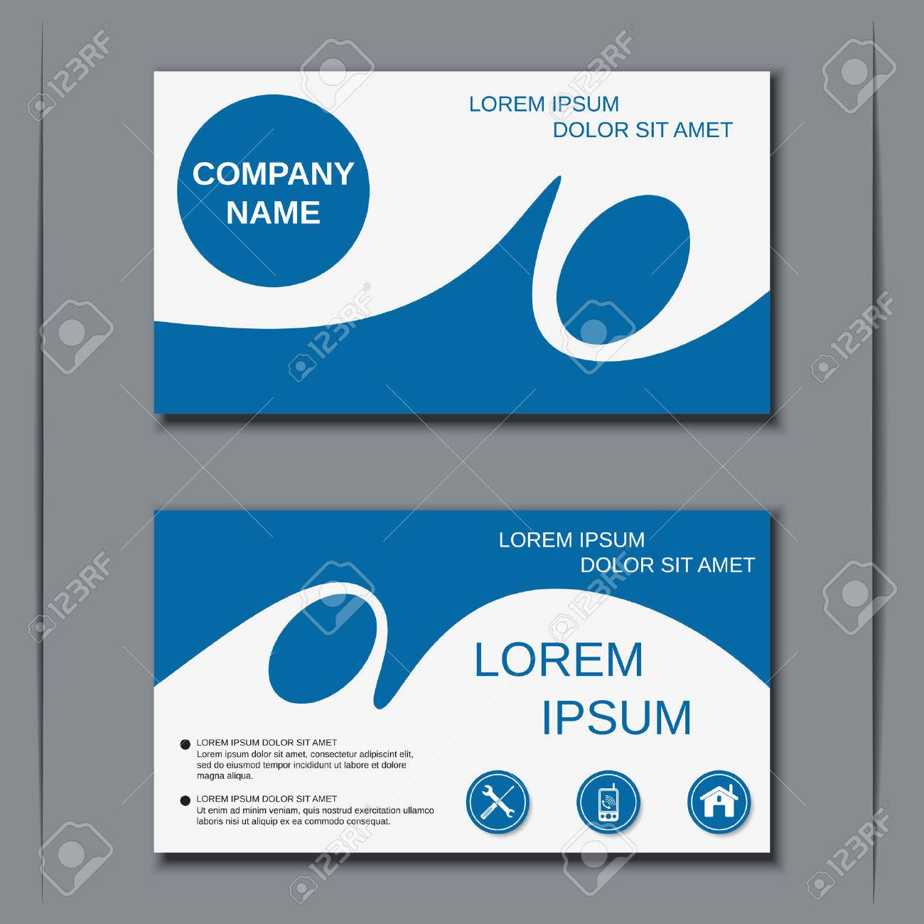 Modern business visiting card design template royalty free cliparts modern business visiting card design template stock vector 46902797 fbccfo Choice Image