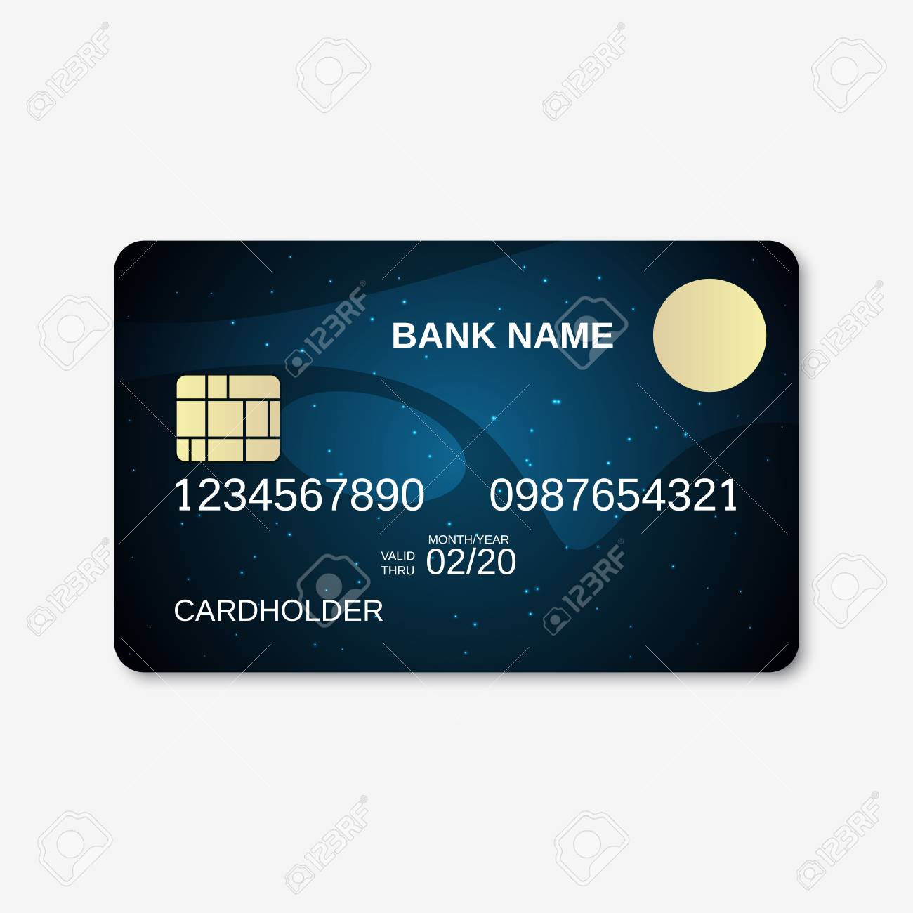 bank card credit card design template stock vector 51663022