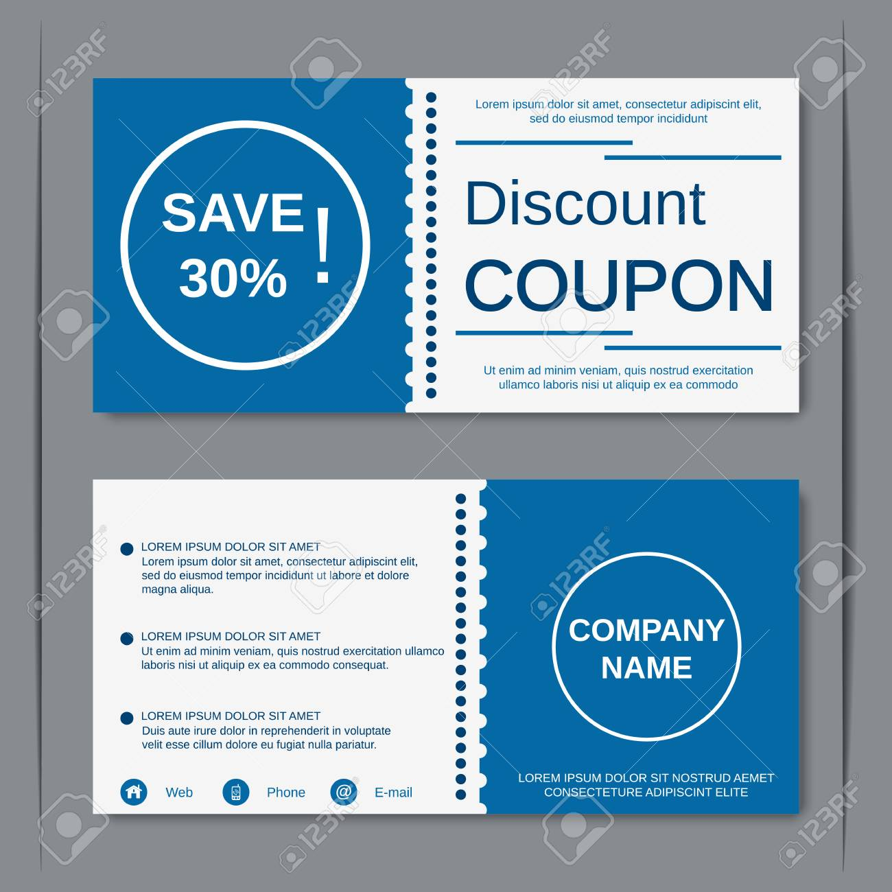Discount Coupon Gift Voucher Gift Certificate Sticker Template