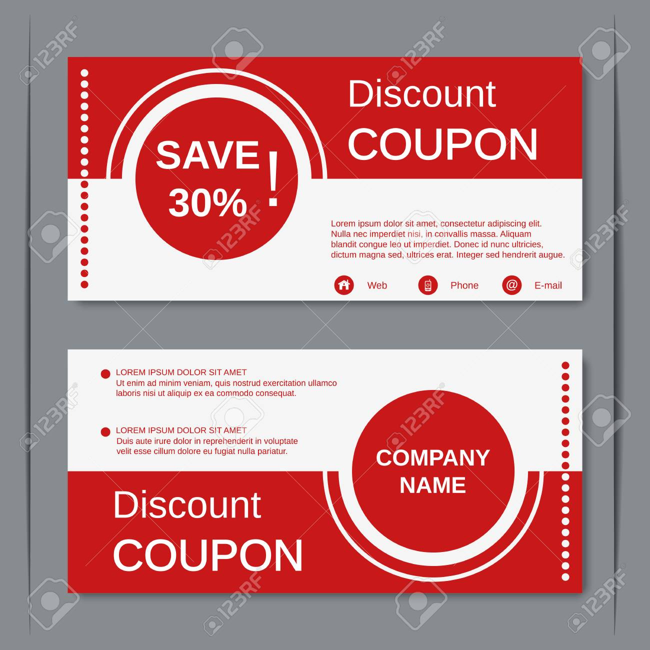 discount coupon gift voucher gift certificate sticker template stock vector 53071171