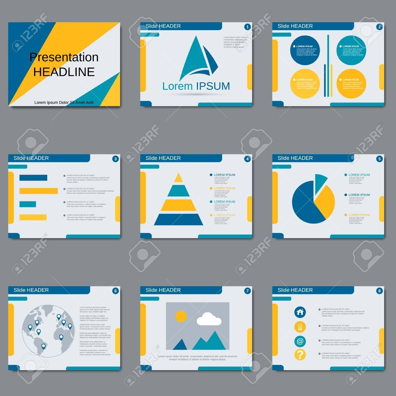 professional business presentation slide show brochure booklet