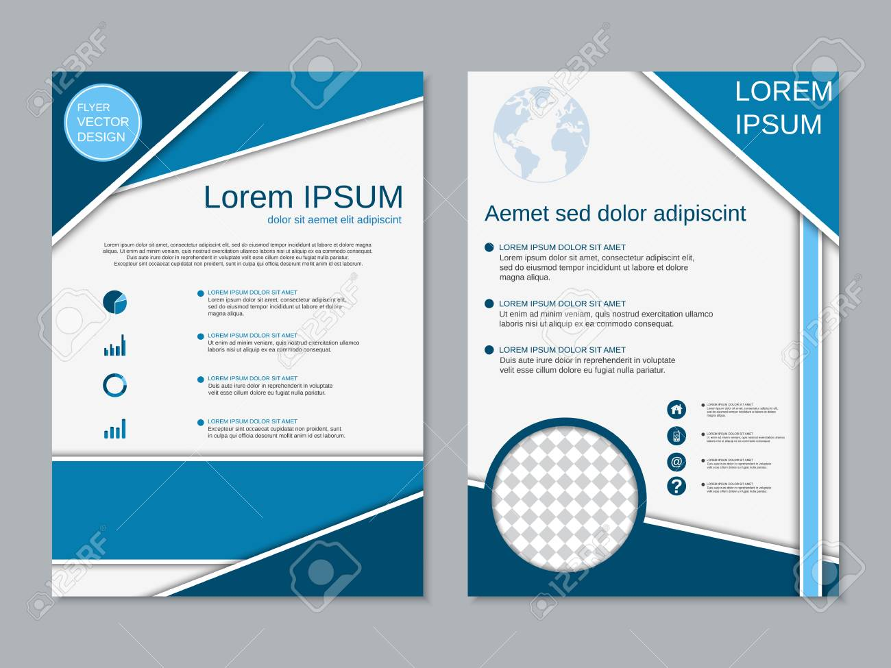 Modern Two-sided Flyer Design Vector Template Royalty Free Cliparts ...