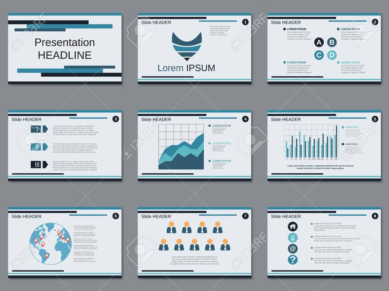 professional business presentation, slide show vector design, Presentation templates