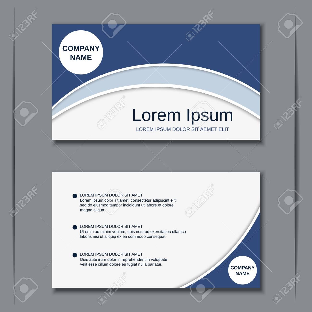 Business visiting card vector design templat - 96813359