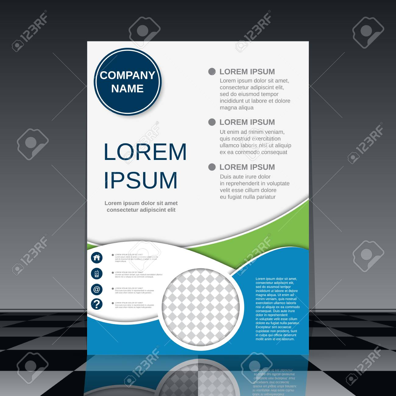 modern professional business flyer vector design template