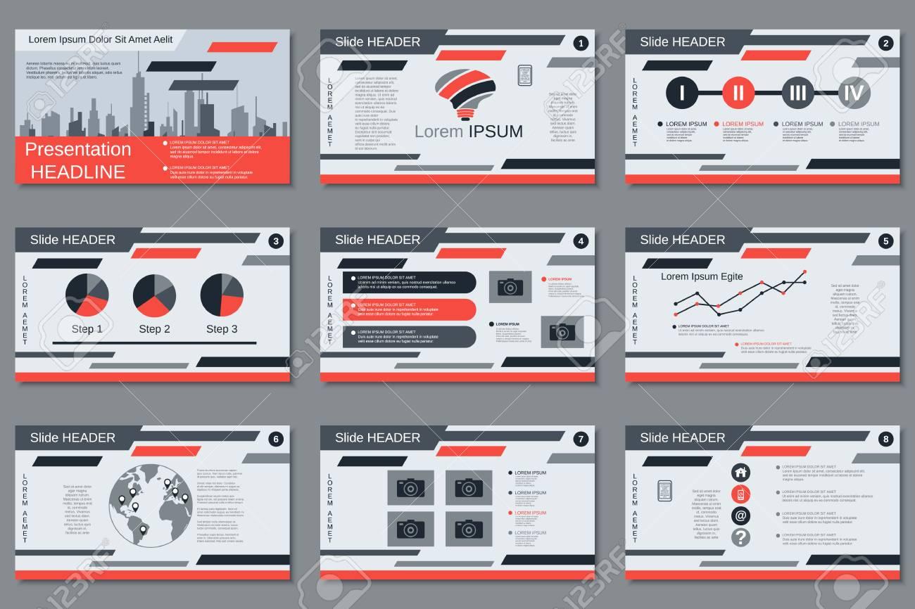 Professional business presentation, slide show vector design template - 104766932