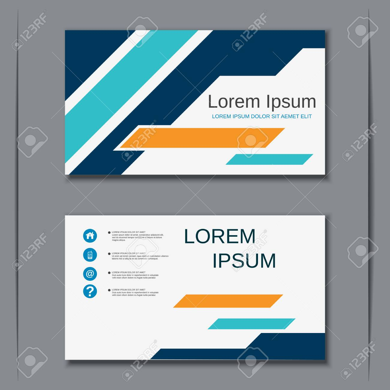 Modern business visiting card vector design template royalty free banco de imagens modern business visiting card vector design template reheart Images