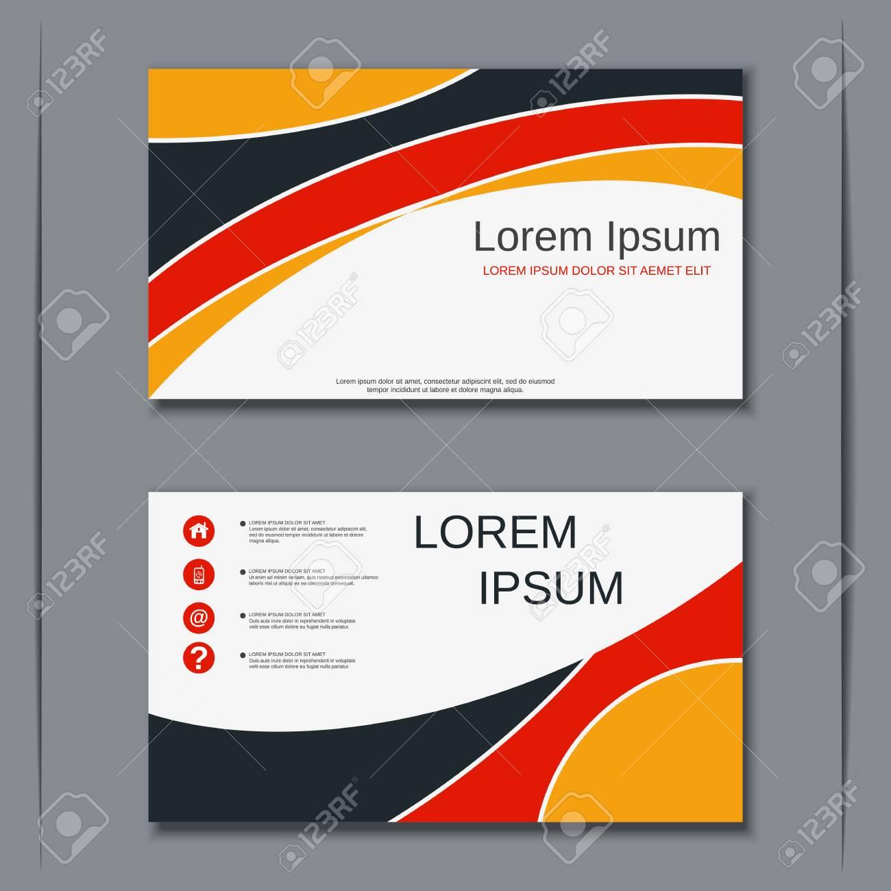 Modern business visiting card vector design template - 107620704