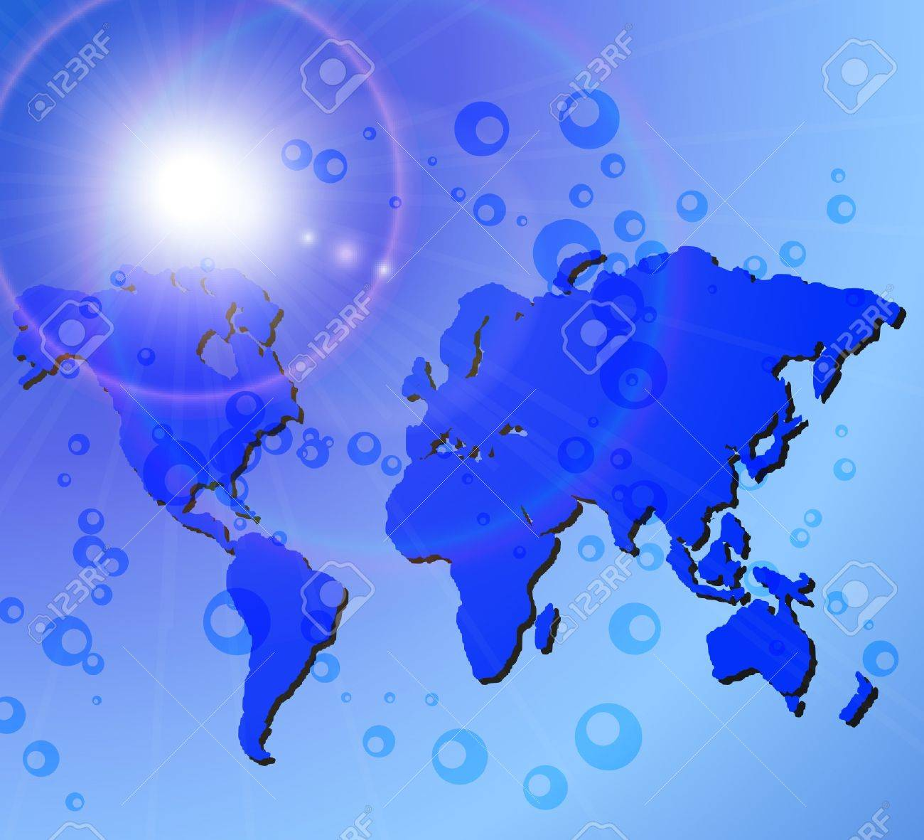 decorate abstract earth world map Stock Vector - 8837927