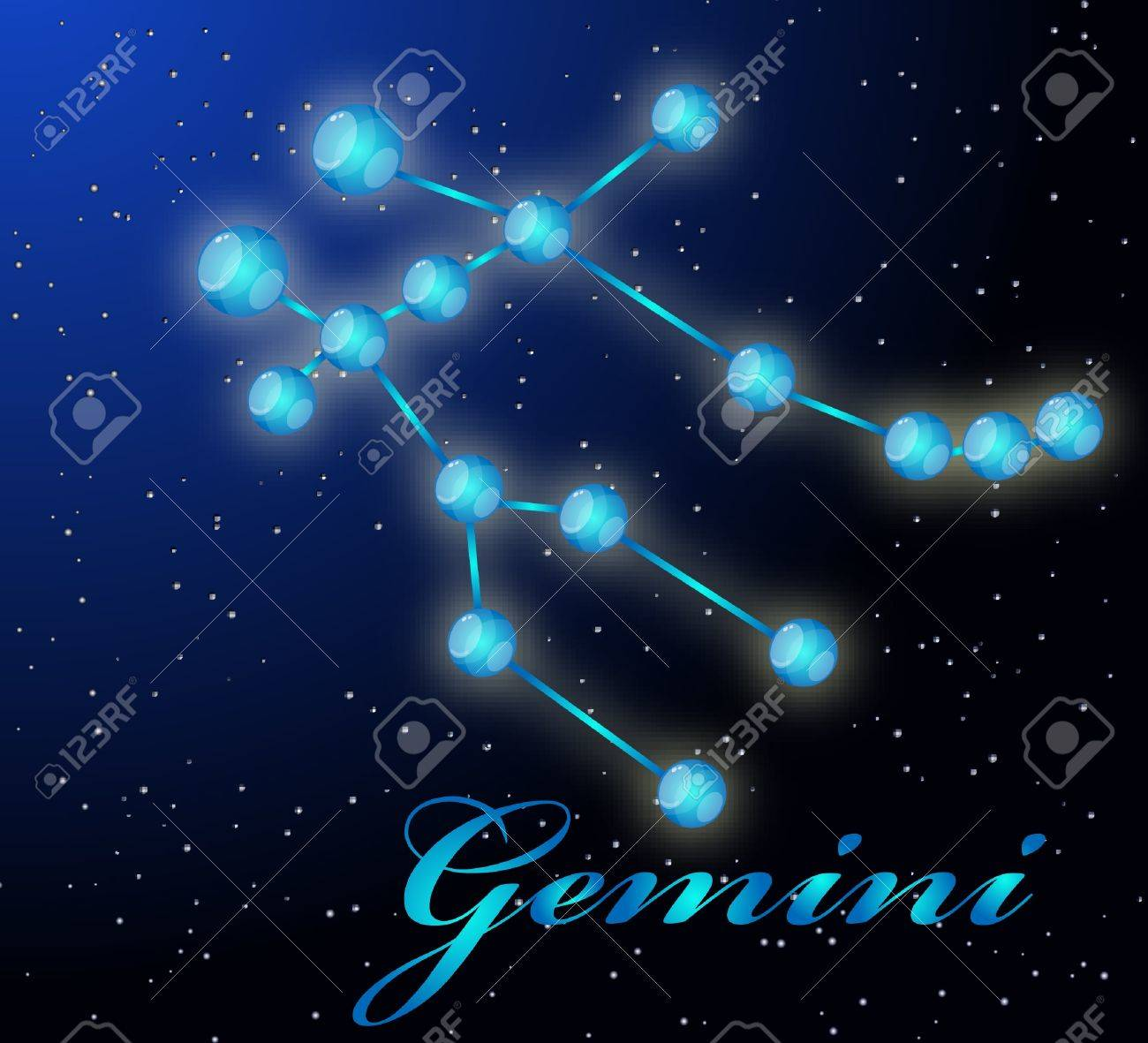 Gemini astrological horoscope Stock Vector - 8961195