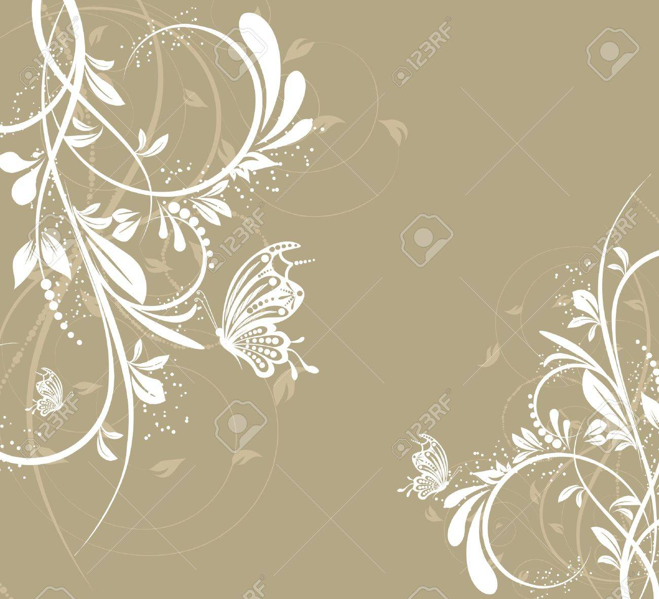 flower creative decorative abstract background butterfly Stock Vector - 9647308