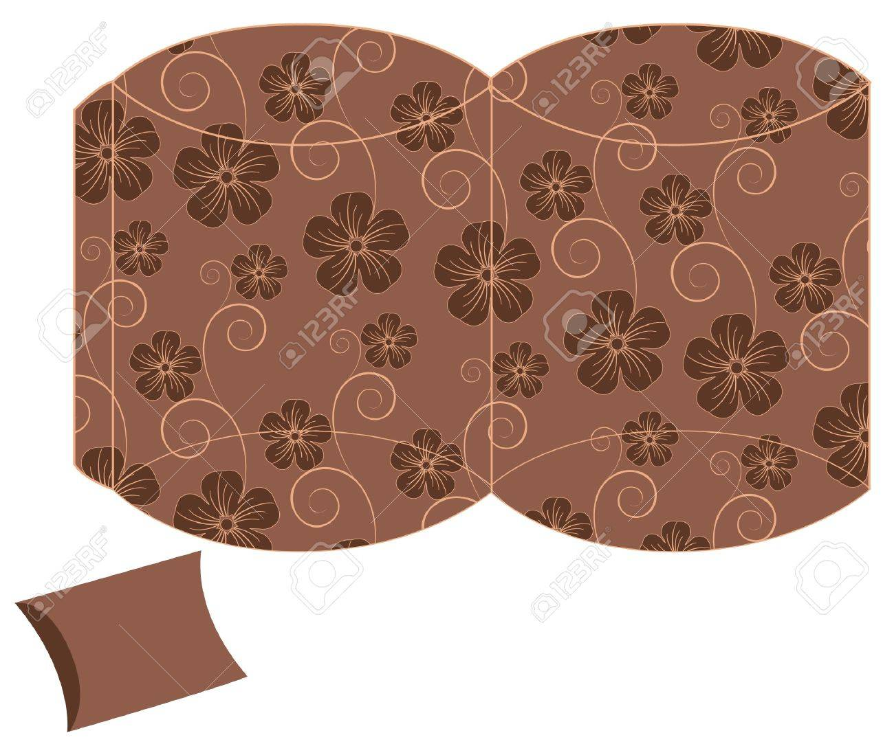 stylized pillow flower gift box template Stock Vector - 12923191