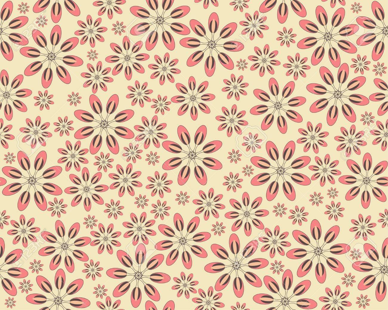 Seamless vector flower pattern Stock Vector - 14725080