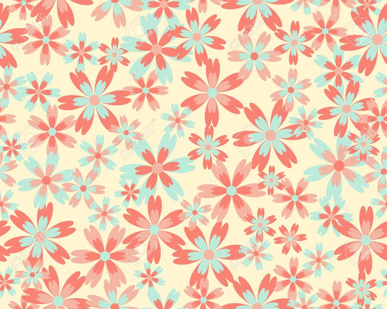 Seamless flower pattern Stock Vector - 15196799