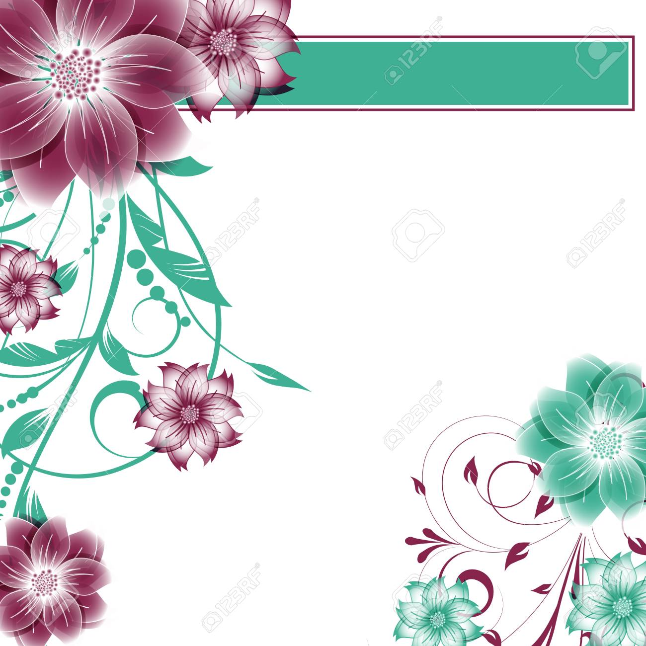 abstract vector flower background Stock Vector - 17007447